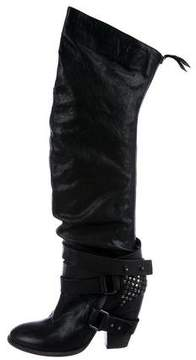 Vic Matié Leather Knee-High Boots