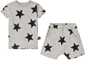 Nununu Heather Grey Loungewear Star Shorts