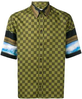Givenchy checked panel shirt
