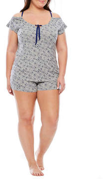 Asstd National Brand Daisy Fuentes Flutter Sleeve Short Set - Women's