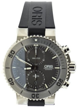 Oris Aquis 7655 Stainless Steel & Rubber Automatic 46mm Mens Watch