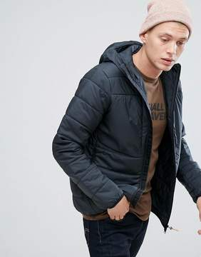 Fjallraven Keb Padded Hooded Jacket in Black