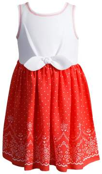 Youngland Toddler Girl Textured Polka-Dot Dress