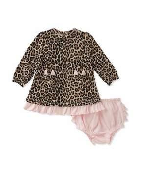 Kate Spade Cat-Pocket Leopard Dress W/ Bloomers, Size 3-9 Months