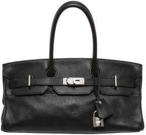 Hermes Birkin leather satchel - BLACK - STYLE