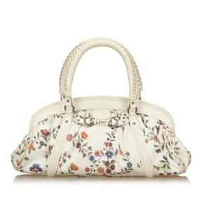 Christian Dior Ecru Cloth Handbag