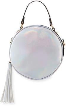 Neiman Marcus Unicorn Holographic Round Crossbody Bag