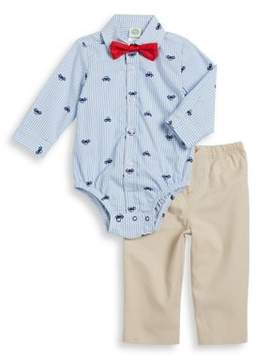 Little Me Baby Boys Two-Piece Car Cotton Bodysuit and Pants Set