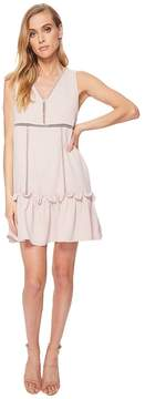 J.o.a. Frilled Hem Drop Waist Shift Dress Women's Dress