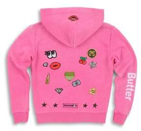 Butter Shoes Girl's Burn Out Zip-Up Hoodie