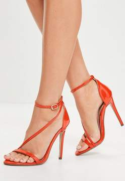 Missguided Red Asymmetric Strappy Sandals