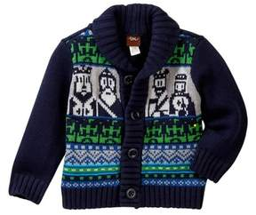 Tea Collection Chessmen Cardigan (Baby Boys)