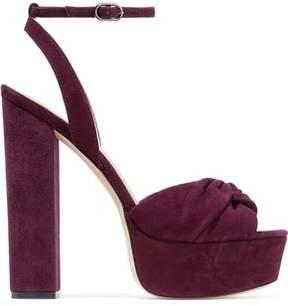 Rachel Zoe Claudette Twisted Suede Platform Sandals