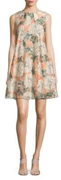 Gabby Skye Floral Lace Shift Dress
