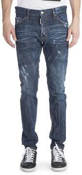 Viktor & Rolf Men's Cool Guy Coated Resin Distressed Jeans