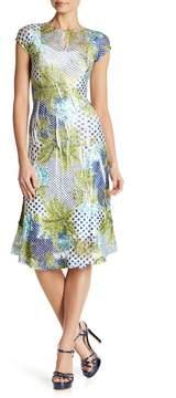 Komarov Cap Sleeve Keyhole Fit & Flare Dress