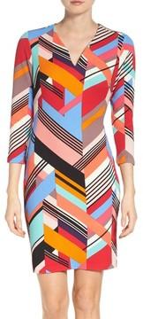 ECI Women's Print Pique Sheath Dress