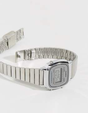 Casio Silver Mini Digital Watch LA670WEA-7EF
