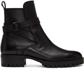 DSQUARED2 Black Buckle Boots