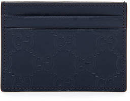 Gucci Signature Leather Card Case - GRAY - STYLE