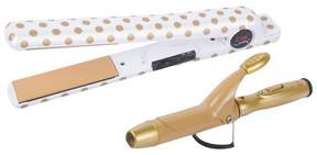 CHI Air Classic Tourmaline Ceramic Flat Iron with Free Dual Voltage Mini Curling Iron - 1