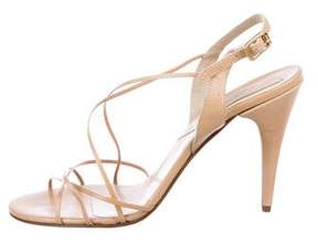 Michael Kors Leather Crossover Sandals