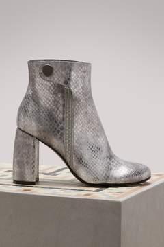 Stella McCartney Faux Snakeskin Ankle Boots