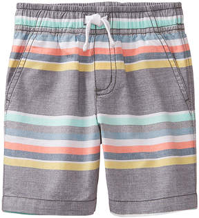 Gymboree Gray & Coral Stripe Beachy Vibes EZ Shorts - Infant, Toddler & Boys