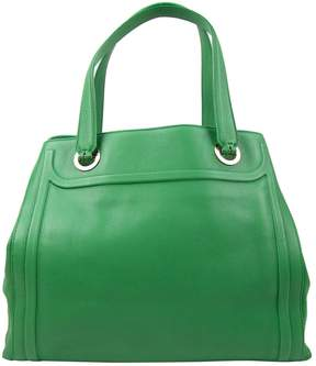 Bulgari Green Leather Handbag