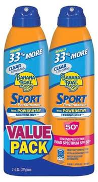 Banana Boat Sport Performance Sunscreen Spray - SPF 50+ - 8oz