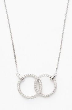 Bony Levy Women's Double Diamond Circle Pendant Necklace (Nordstrom Exclusive)