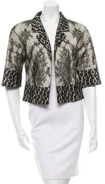 Alessandro Dell'Acqua Lace Open Front Jacket