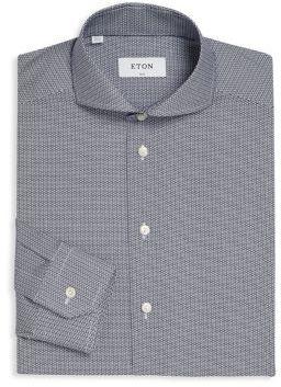 Eton Slim-Fit Micro Patterned Shirt