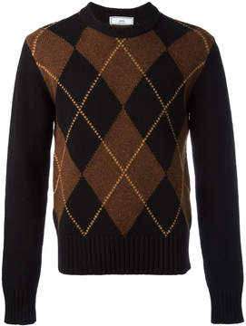 Ami Alexandre Mattiussi argyle pattern crewneck sweater