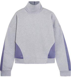 adidas by Stella McCartney Jersey And Stretch-scuba Sweatshirt - Gray