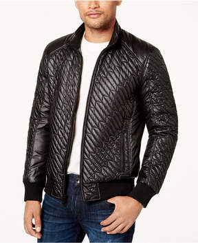 GUESS Men's Finch Quilted Bomber Jacket