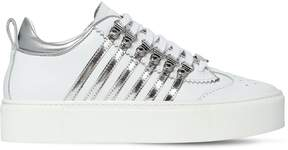 DSQUARED2 40mm Leather Platform Sneakers
