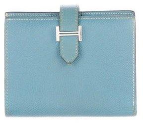 Hermes Epsom Bearn Compact Wallet - BLUE - STYLE