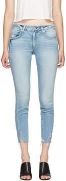 Amo Blue Fray Twist Jeans