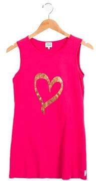 Armani Junior Girls' Heart Print Dress