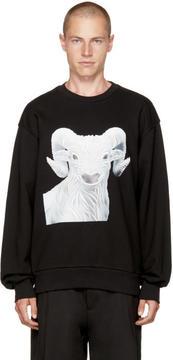 Juun.J Black Ram Sweatshirt