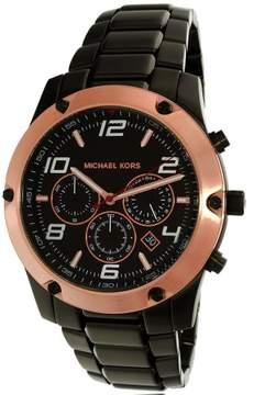 Michael Kors Men's Caine MK8513 Black Stainless-Steel Quartz Fashion Watch