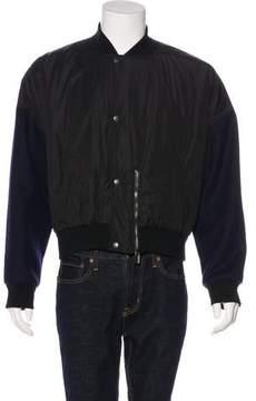 Balenciaga Wool-Trimmed Bomber Jacket