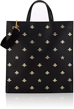 Gucci Men's Bee-Print Leather Tote Bag