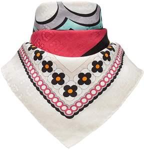 Fendi logo print square scarf