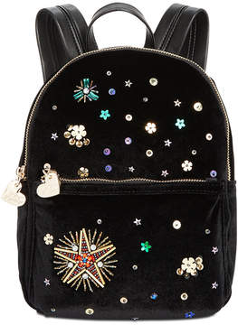 Betsey Johnson Velvet Small Backpack