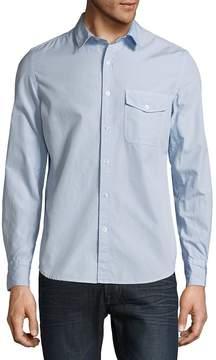 Save Khaki Men's Classic Cotton Casual Button-Down Shirt
