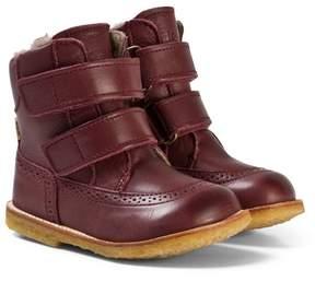 Bisgaard Plum Velcro Boots