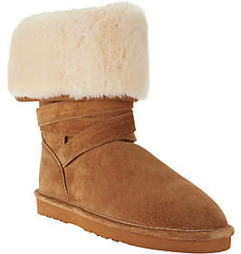 Lamo As Is Water Resistant Suede Faux Fur Tall Boots - Savoy