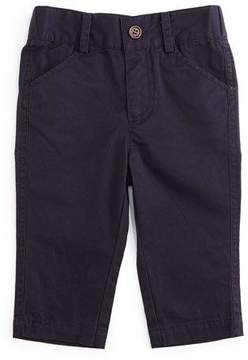 Andy & Evan Twill Straight-Leg Pants, Navy, Size 2T-7Y